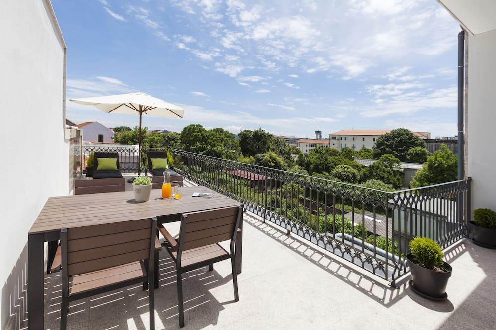 豪華公寓, 1 間臥室, 露台, 花園景 - 陽台