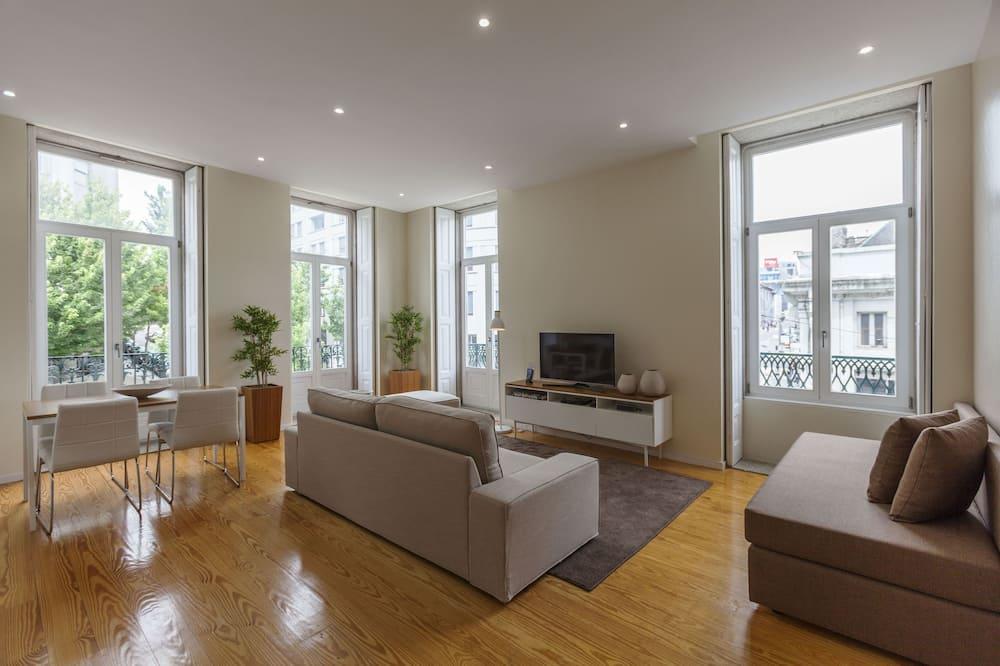 豪華公寓, 城市景 - 客廳