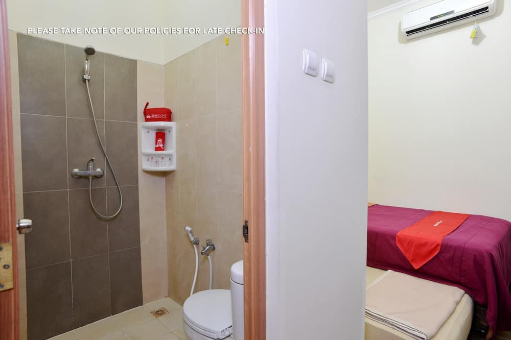 Ekonominės klasės kambarys (1 dvigulė / 2 viengulės lovos) - Vonios kambarys