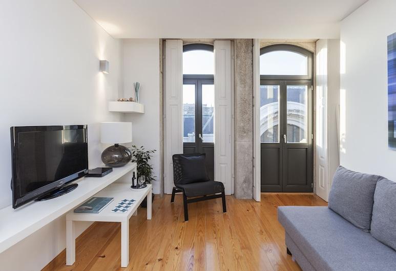 BO - Bolhão Apartments, Porto, Apartmán typu Superior, 1 spálňa, výhľad na mesto, Obývačka