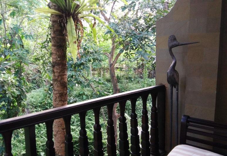 Puri Alam Dewata - Guest Villas, Ubud, Izba typu Superior, 1 dvojlôžko, výhľad na záhradu, Balkón