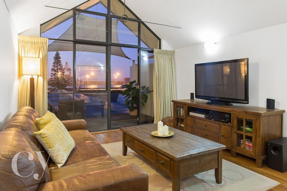 Dům typu Premium, 2 ložnice, 2 koupelny, výhled na přístav - Obývací prostor