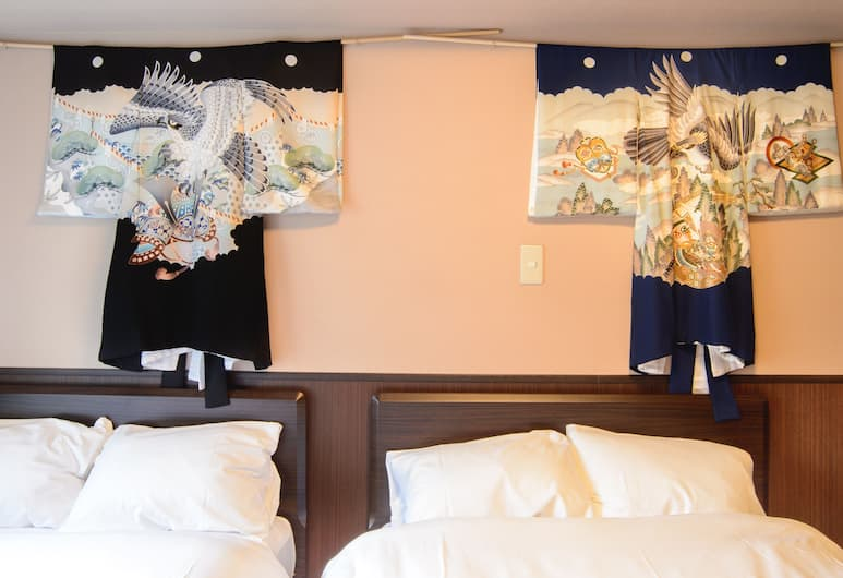 Root2 coffee & hostel, Kyoto, Twin Room with 2 Semi Double Beds, Room