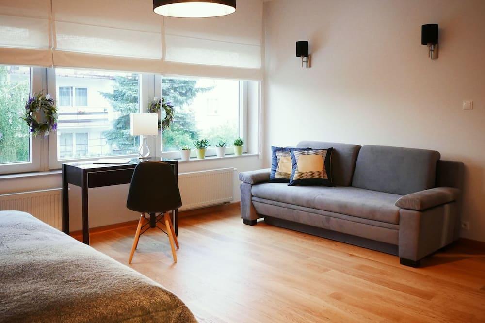 Pokój dwuosobowy, Łóżko podwójne i sofa - Powierzchnia mieszkalna