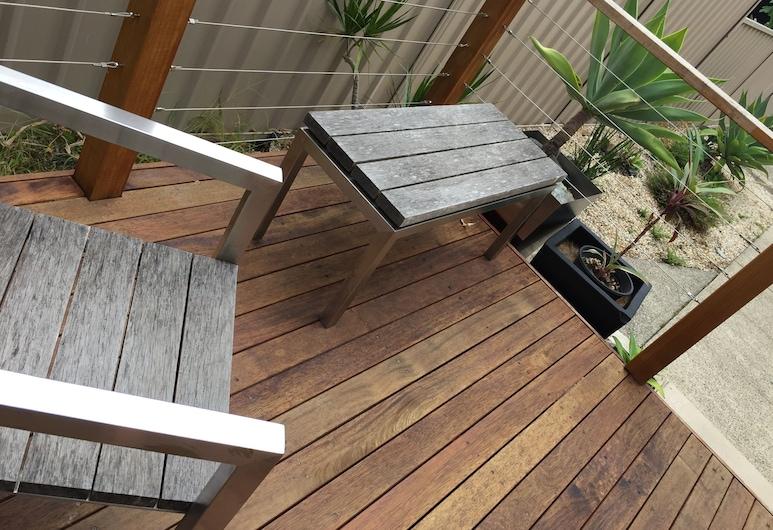 Narimba Motel, Port Macquarie, Familieværelse (Classic Family Room), Terrasse/patio