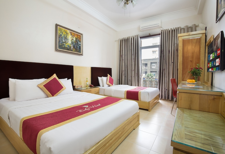 Ruby Hotel, Hanoi, Emerald Twin Room, Guest Room