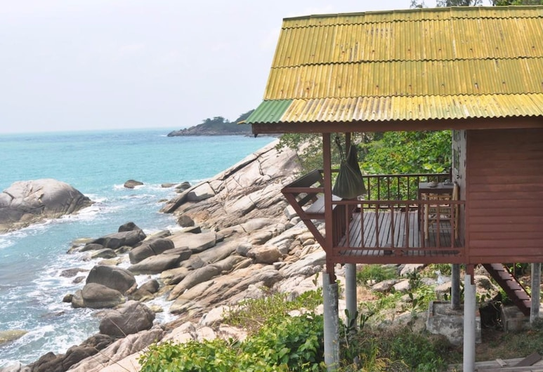 The Ocean Phangan Homestay, Ko Pha-ngan, Fan Bangalow Double Bed with Seaview, Terasa