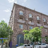Fasaden på overnattingsstedet
