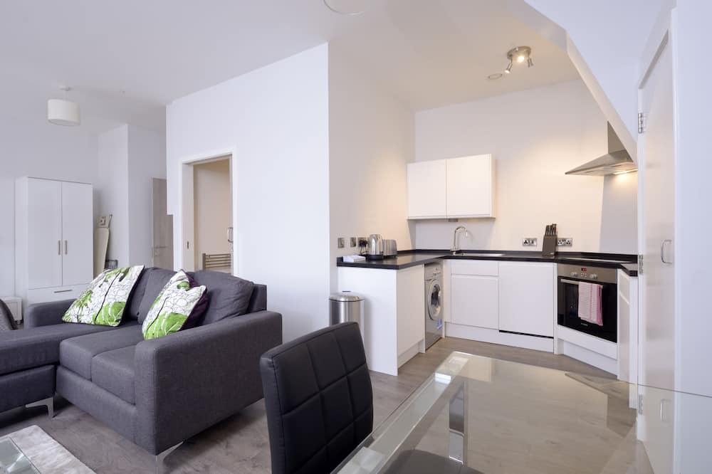Classic-Apartment, 1 Schlafzimmer - Wohnzimmer