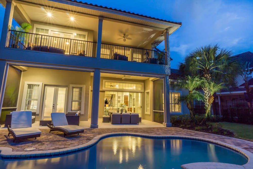 家庭別墅, 6 間臥室, 高球場景, 花園 - 室外泳池