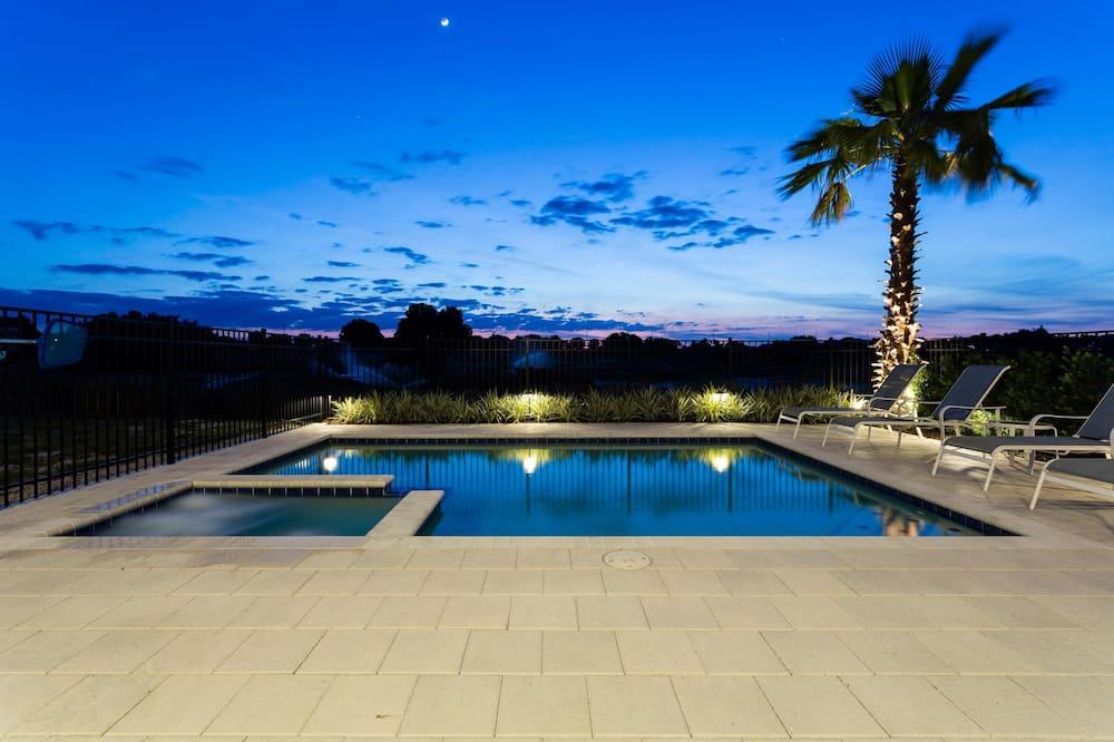 家庭別墅, 5 間臥室, 高球場景, 花園 - 室外泳池