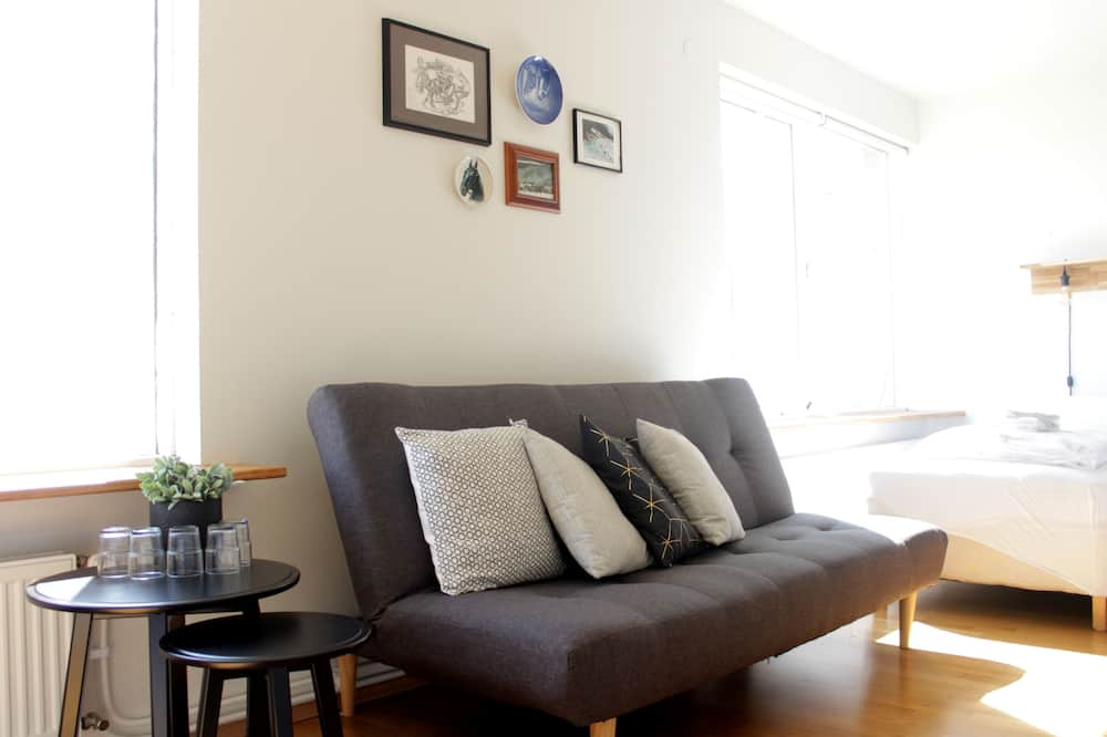 Family Room, Shared Bathroom - Living Area