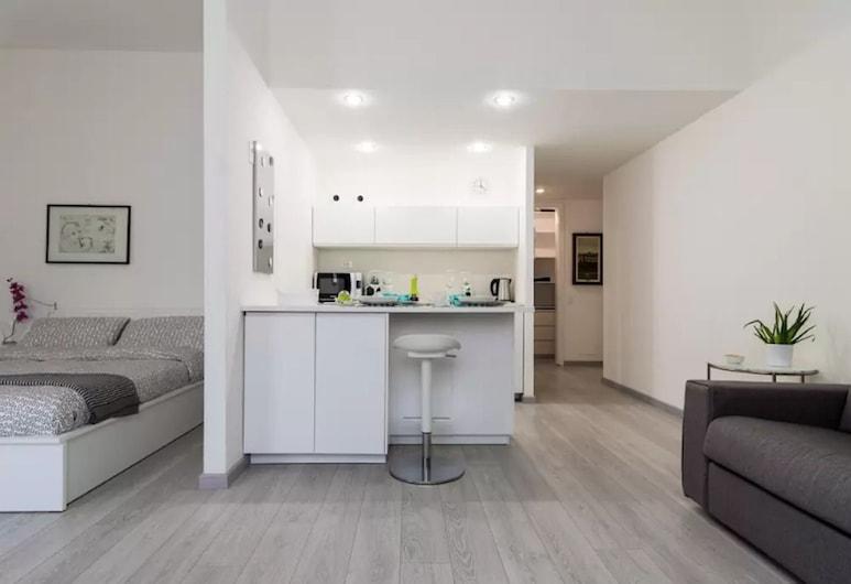 Appartamento in Brera, Milaan, City studio, 1 tweepersoonsbed met slaapbank, Uitzicht op de stad, Woonruimte