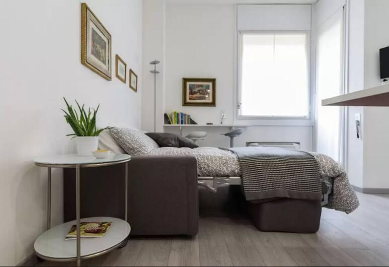 Appartamento in Brera, Милан, Студия «Сити», 1 двуспальная кровать с диваном-кроватью, вид на город, Номер