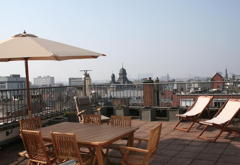 Grand-Place Lombard Penthouse, Brussels, Deluxe Apartment, 3 Bedrooms, 2 Bathrooms, Terrace/Patio