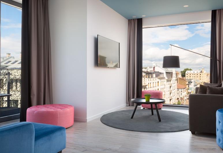 Park Inn by Radisson Residence Riga Barona, Riia, Superior külaliskorter, 1 magamistoaga, terrass, Elutuba