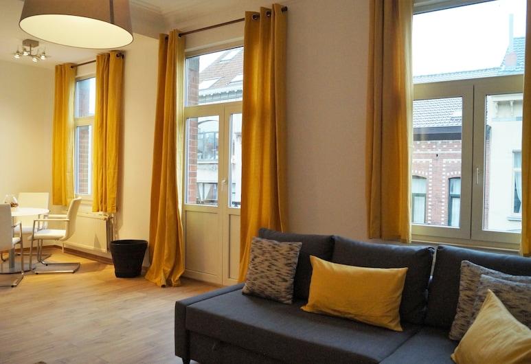 Appartement Impasse Pitchoune, BRUSEL, Dvojposchodový apartmán, Obývačka