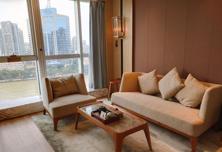Howard Johnson Riverview Hotel Guangzhou, Guangzhou, Premier-Doppelzimmer, Wohnbereich
