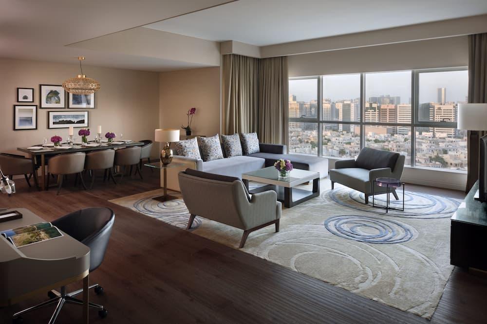 都會公寓, 3 間臥室, 非吸煙房, 城市景觀 - 客廳