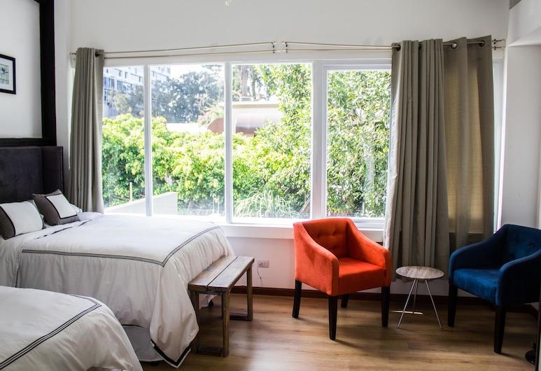 Meraki Boutique Hotel, גואטמלה סיטי, חדר לארבעה (Two Double Beds), נוף מחדר האורחים