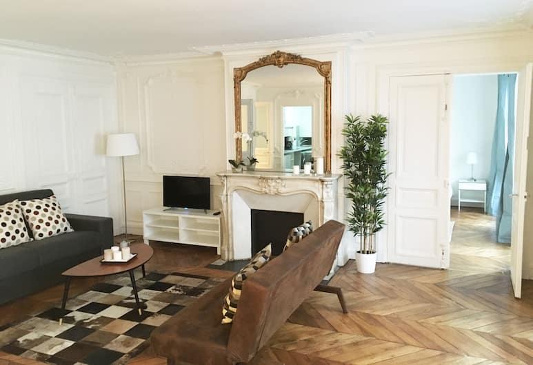 Residence Bergère - Appartements, Paris, Premium Apartment, 2 Bedrooms, Living Area