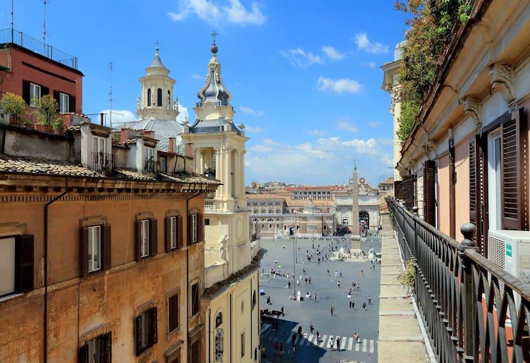 Al Corso 4, Rím, Izba s dvojlôžkom alebo oddelenými lôžkami, Výhľad z balkóna