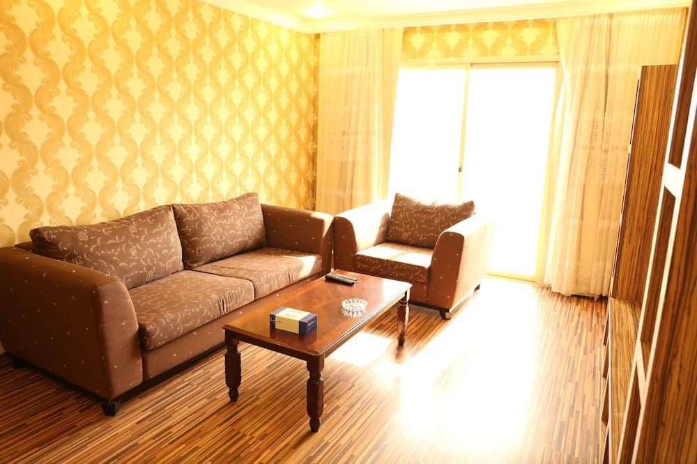 Deluxe-huoneisto, 2 makuuhuonetta - Oleskelualue
