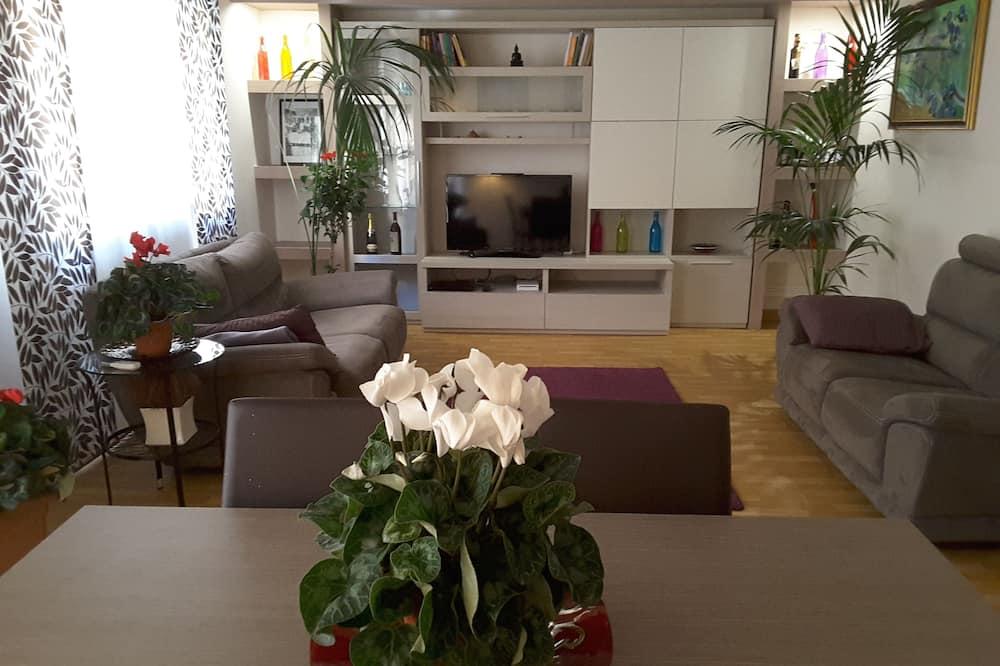 ラグジュアリー アパートメント 2 ベッドルーム 喫煙可 キッチン - リビング エリア