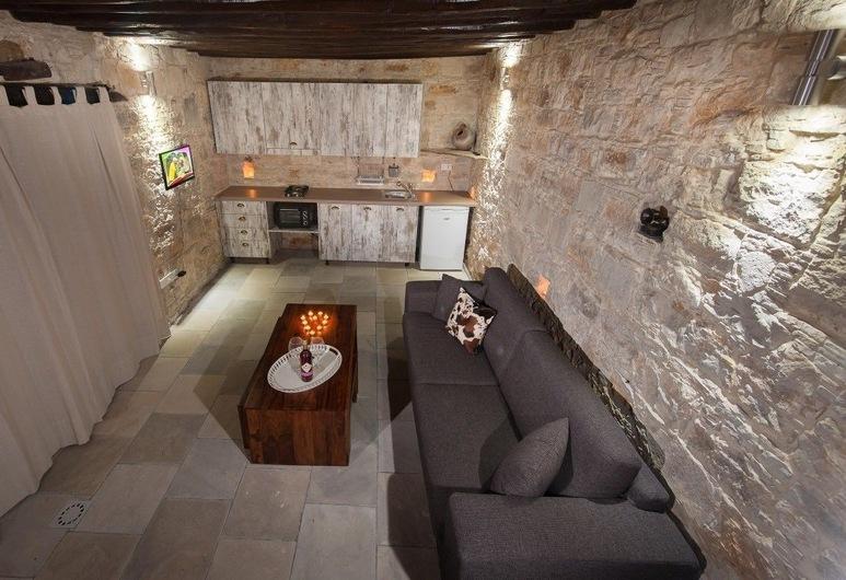 Oinoessa Traditional Boutique Houses, Lofou, Apartmán typu Junior (Sospitos), Obývacie priestory