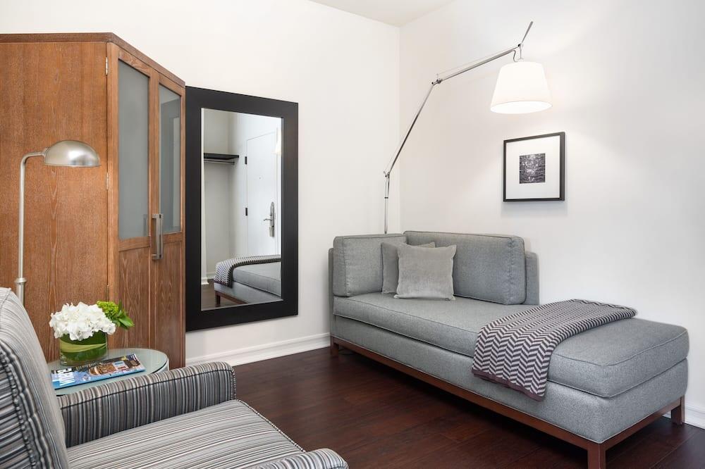 Žemesnės liukso klasės numeris, 1 labai didelė dvigulė lova ir sofa-lova (Chaise Bed) - Svetainės zona