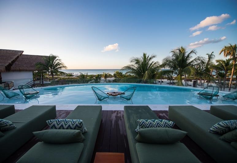 Villas HM Palapas del Mar, Isla Holbox, Piscine sur le toit