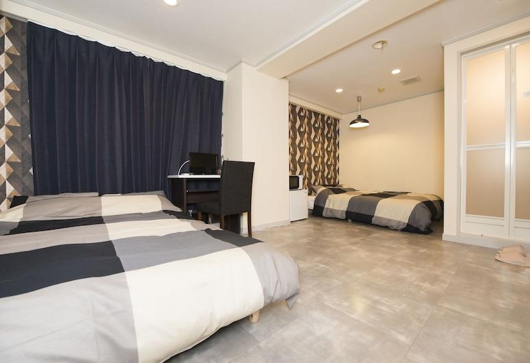 Stylish Station Hotel Kanazawa, קאנאזאווה, חדר טווין, 2 מיטות זוגיות, ללא עישון (203, 205, 208), חדר אורחים