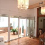 City Apartment, 1 Bedroom, Patio (A) - Living Room
