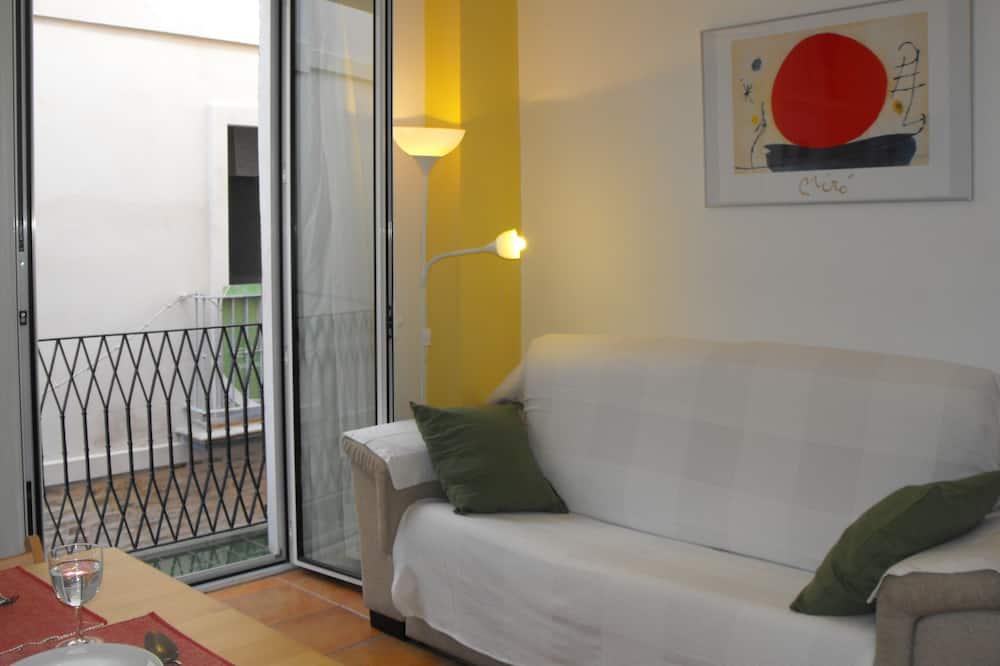 City Apartment, 1 Bedroom, Balcony (C) - Living Room