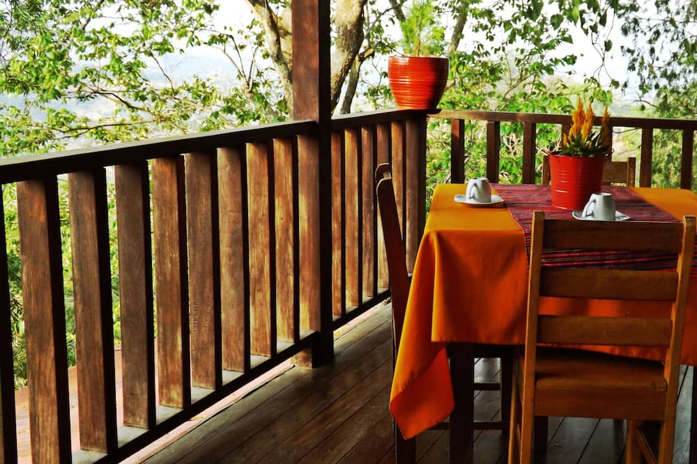 Панорамне бунгало, міні-кухня, з видом на гори - Балкон