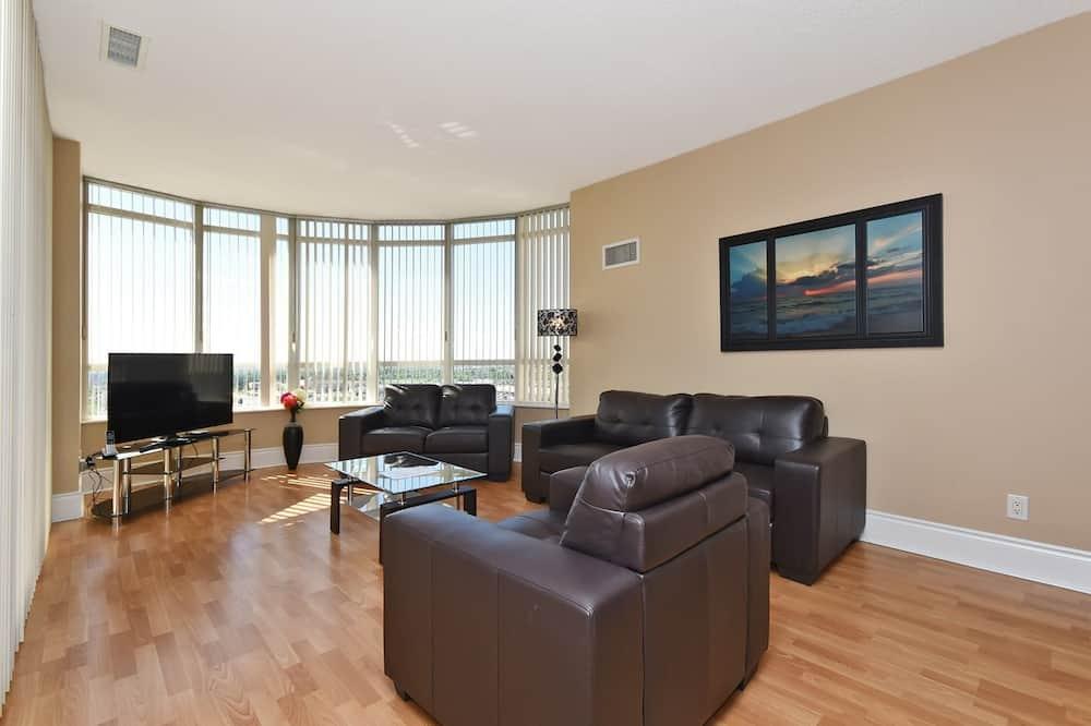 Apartamento Premium, 2 Quartos, Vista Cidade, Torre - Área de Estar
