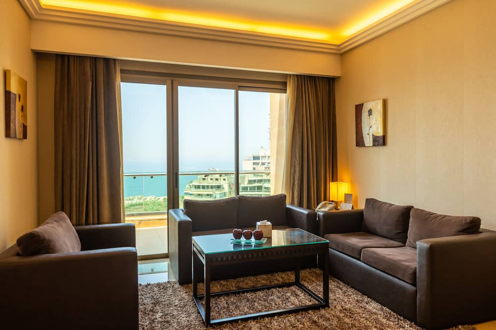 Royal Suite, 3 Bedrooms, Sea View - Living Area