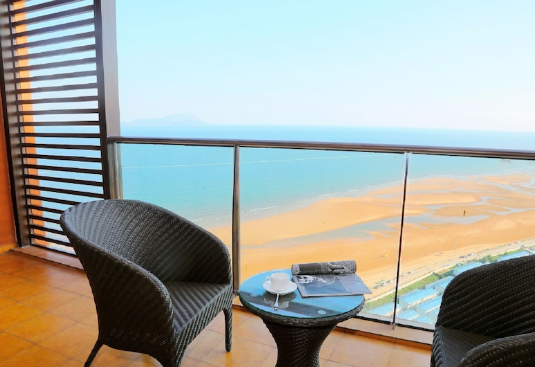 Mangrove Tree Resort World Qingdao (Red Coral), Qingdao, Quarto Deluxe, Vista Mar, Vista do Quarto
