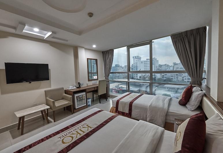Kim Khoi hotel, Ho Chi Minh-Stad, Deluxe driepersoonskamer, Uitzicht op de stad, Uitzicht vanaf kamer
