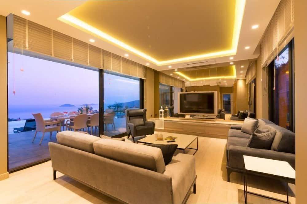 Villa de lujo, 4 habitaciones, vistas al mar - Zona de estar