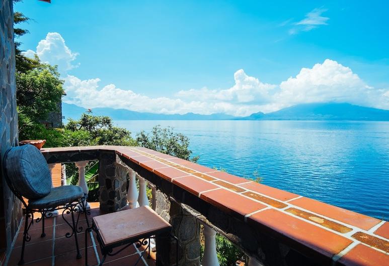 Hotel y Cafe La Casa del Mundo, Santa Cruz La Laguna, Suite Deluxe, Varias camas, balcón, vista al lago, Habitación