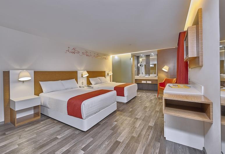 City Express Ciudad de Mexico Alameda, Ciudad de México, Habitación estándar, 2 camas dobles, Habitación