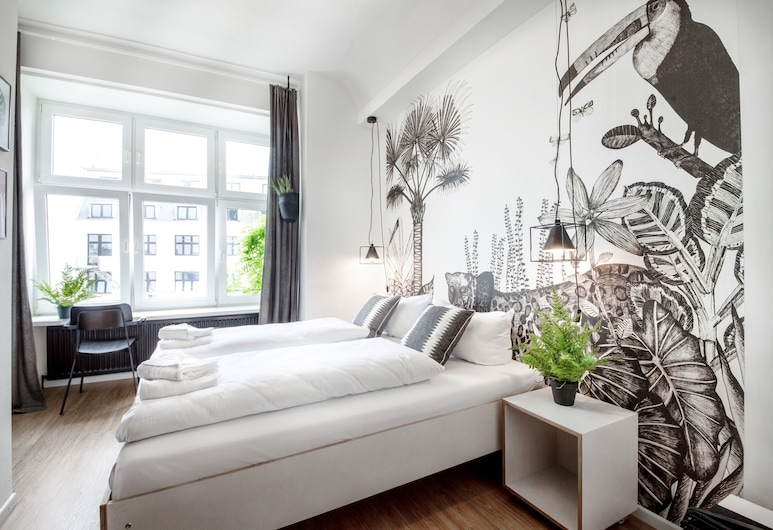 Pyjama Park Schanzenviertel, Hamburgas, Standartinio tipo kambarys (1 dvigulė / 2 viengulės lovos), Svečių kambarys