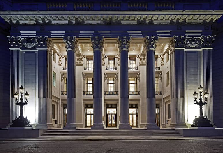 Four Seasons Hotel London at Ten Trinity Square, London, Hotel Front – Evening/Night