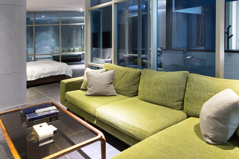 Flagship Suite Check in time starts from 6pm - Living Area