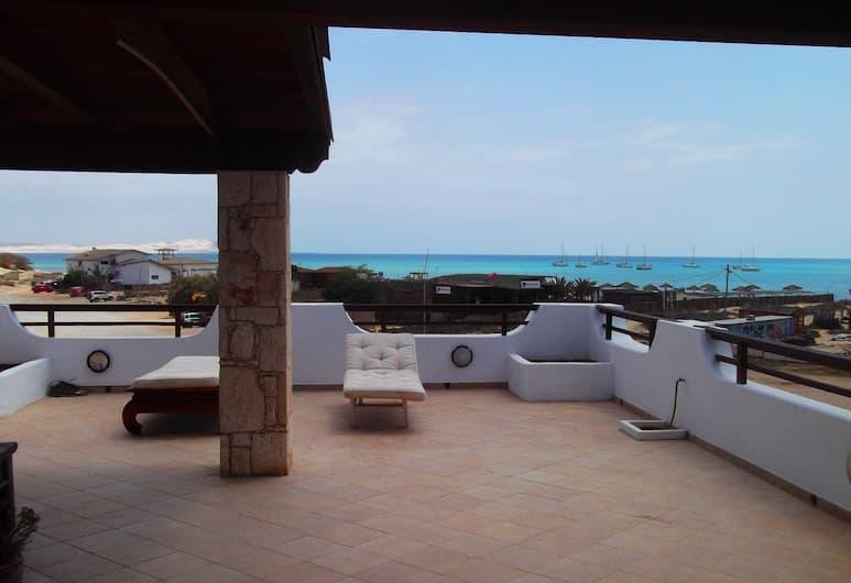 Apartment Ocean Front Praia Estoril, Boa Vista, Loftsleilighet – deluxe, 4 soverom, terrasse, utsikt mot hav, Terrasse/veranda
