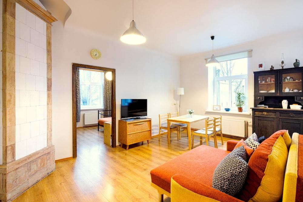 Riga City Center Apartments, Riga, Classic Apartment, 1 Bedroom, Living Area