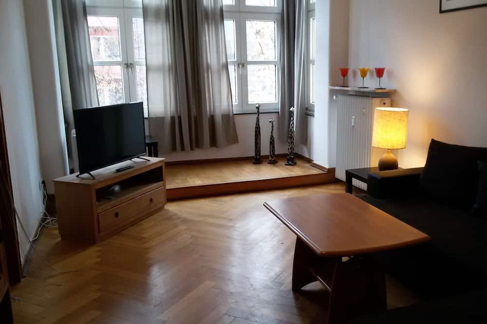 ベーシック アパートメント 2 ベッドルーム (Hüttenstraße, 40215 Düsseldorf) - リビング ルーム