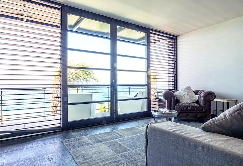 Pietermaai Urban Vibes, Vilemstadas, Liukso klasės apartamentai, 2 miegamieji, vaizdas į vandenyną, Svetainės zona