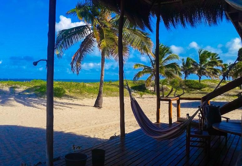 بورا فيدا لودج, مورومبيني, شاليه بانوراما - غرفتا نوم - بمنظر للمحيط - على الشاطئ, تِراس/ فناء مرصوف